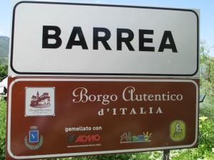 foto cartello Barrea
