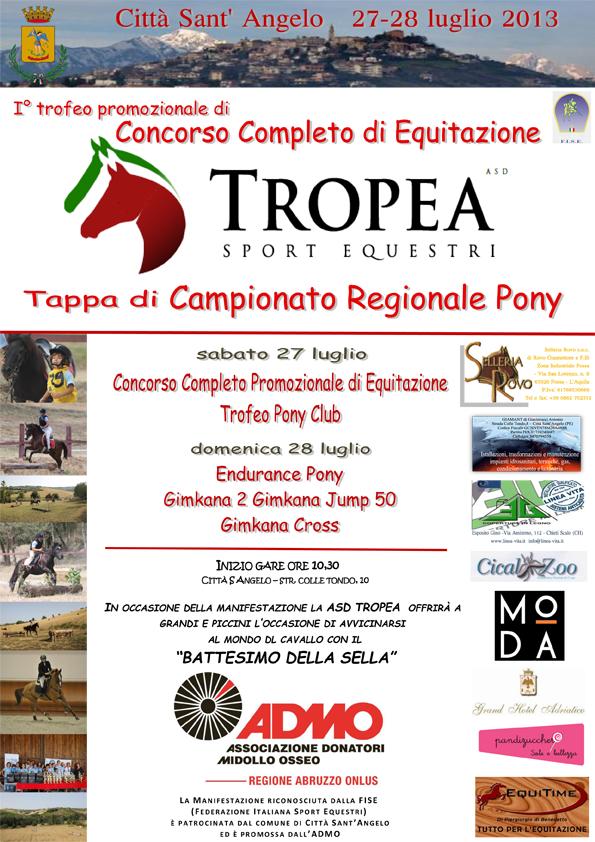 flyer concorso completo equitazione ASD Tropea 2013