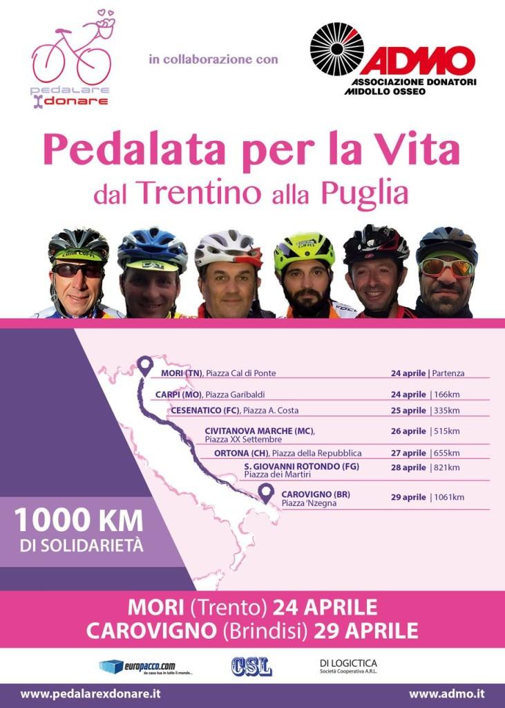 pedalare per donare 24-29 Aprile 2016